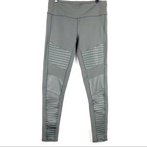 Alo Yoga / Slate Gray Moto Leggings